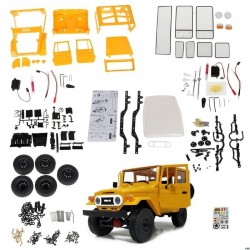 WPL C34 Kit C34K 1:16 KIT VERSION ,Hobby Grade,rc offroad FJ40 Yellow
